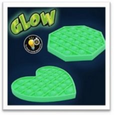 Fidget bubble pop-it Glow in the dark 8-hoekig