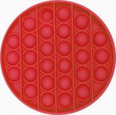 fidget bubble pop-it rond rood
